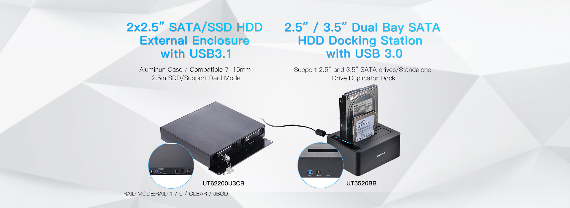 2.5+3.5 inch HDD Enclosure